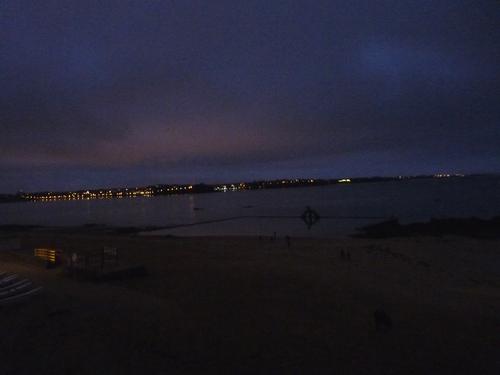 nuit au bord de la mer