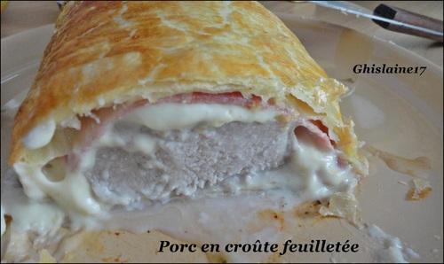 Filet mignon en croûte feuilletée (fait avec autre morceau de porc)
