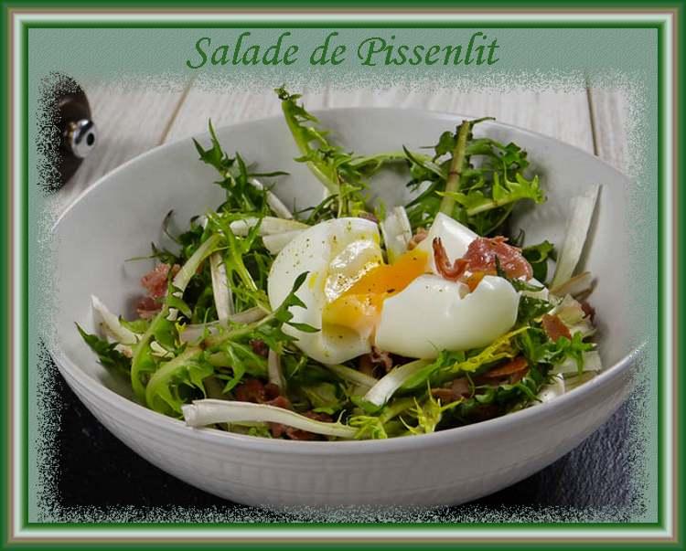 Recette de cuisine : Salade de Pissenlit