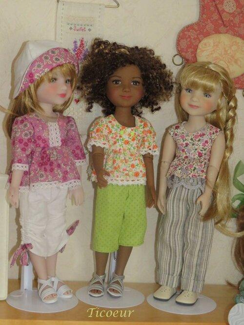 Maya et Emy en tenue d'été doux