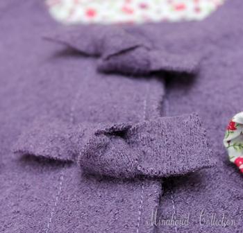 veste mauve, détail