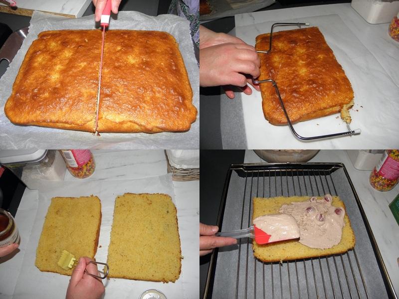 Gâteau au chocolat fourré à la cerise