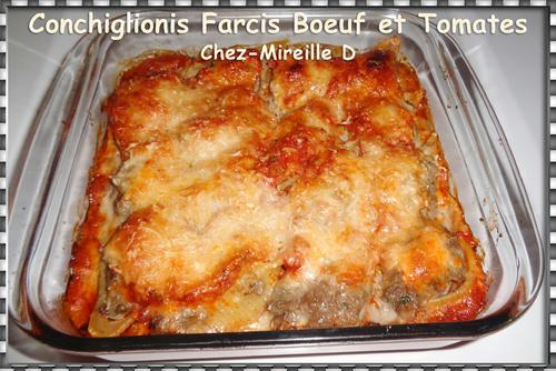 Conchiglionis Farcis Boeuf et Tomates