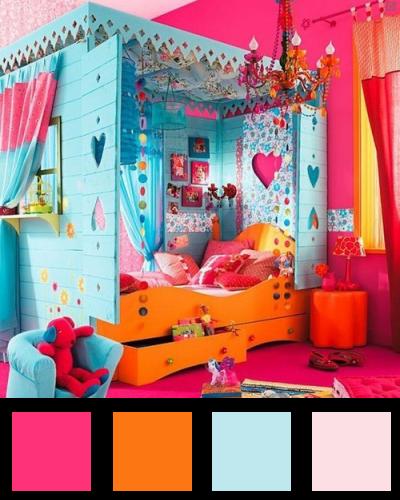 Deco chambre ado orange design de maison for Decoration chambre camaieu orange