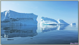La suite de la découverte nous conduit vers une merveille qui se dévoile au loin - Cimetière d'icebergs de Savissivik - Groenland