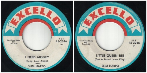 SLIM HARPO SINGLES EXCELLO RECORDS