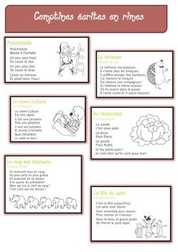 Dossier COMPTINES pour jouer avec les syllabes, les phonèmes