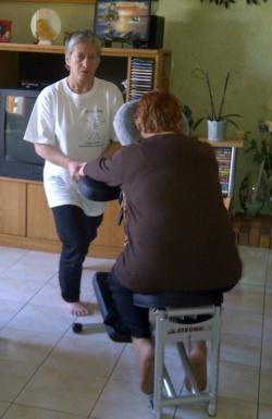 Présentation du massage sur chaise