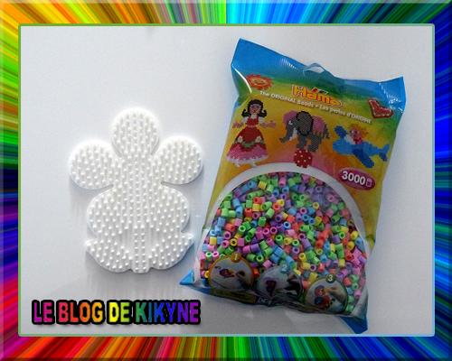 Fleurs en perles Hama