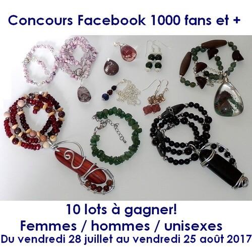 Concours Facebook - 1000 fans et plus - juillet-août 2017
