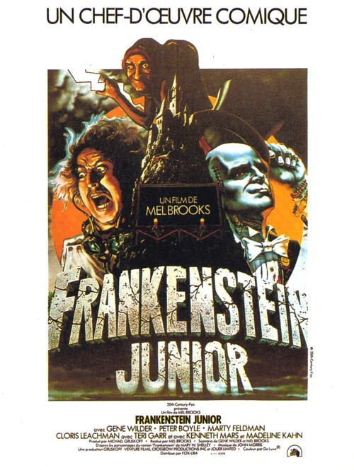 FRANKENSTEIN JUNIOR AFFICHE FRANCE 1975