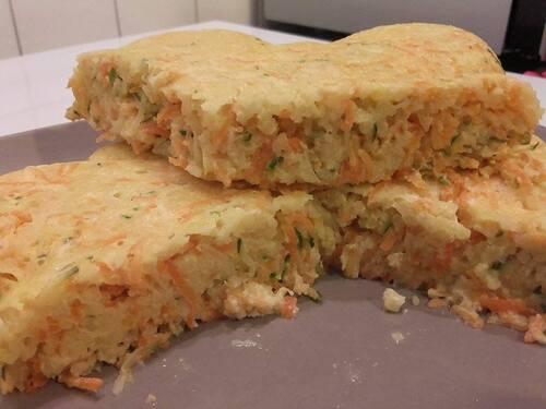 Quiche carottes-courgettes