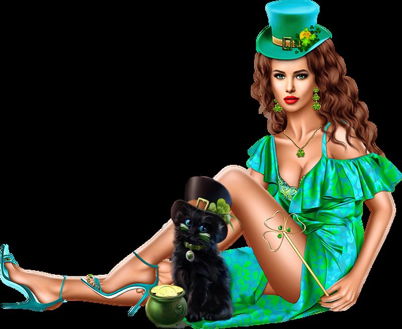 Tubes Femmes St Patrick