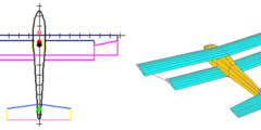 Modélisation de biplan et vue 3D