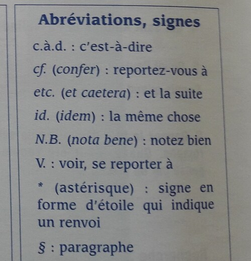 A / Les abréviations