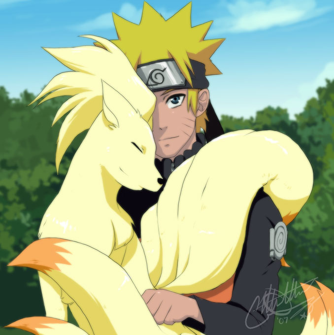 Naruto et le pokémon renard