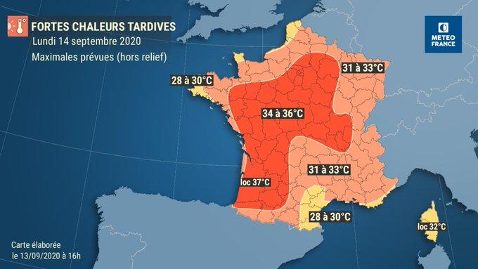 Chaleur : Des températures « exceptionnellement chaudes », jusqu'à 38 degrés, attendues ce lundi