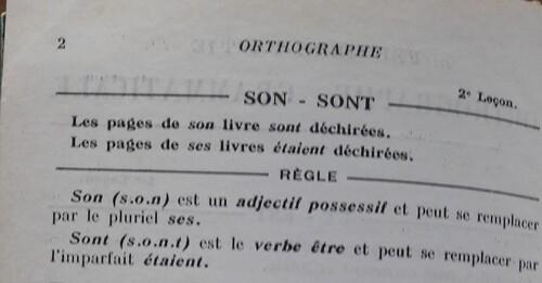 A / Son ou sont ?