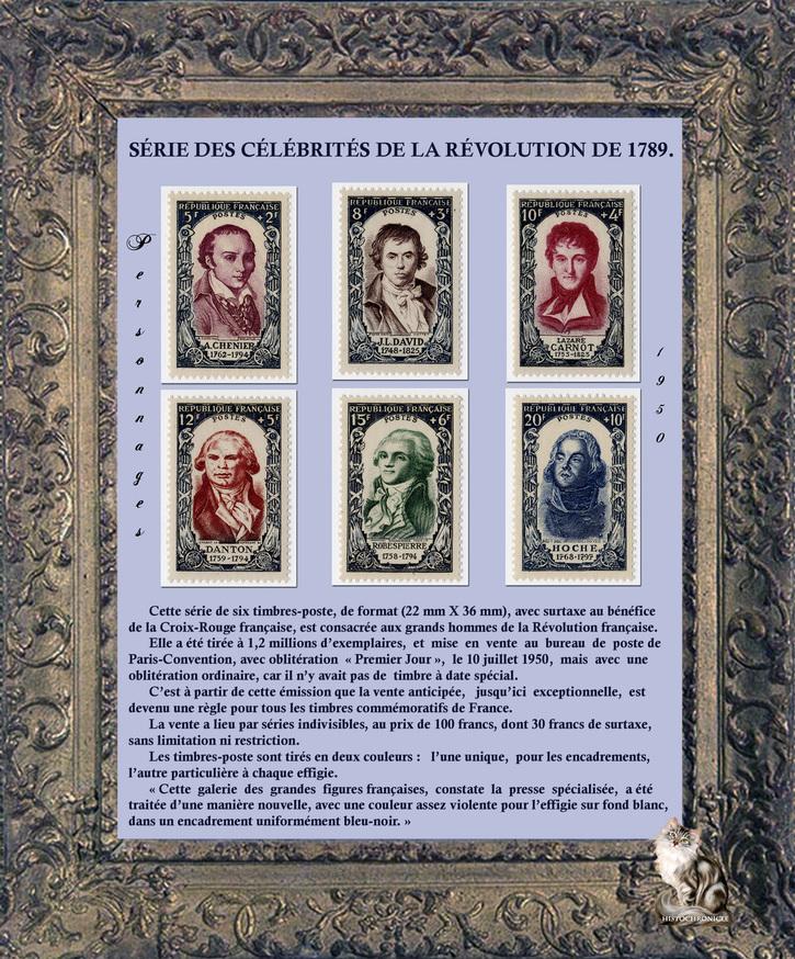 Timbres sur la révolution française - de Philippe