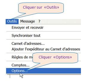 OUTLOOK EXPRESS - AGRANDIR / MODIFIER, TAILLE /TYPE DES CARACTERES DES MESSAGES