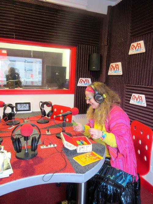 Une interview à la radio...
