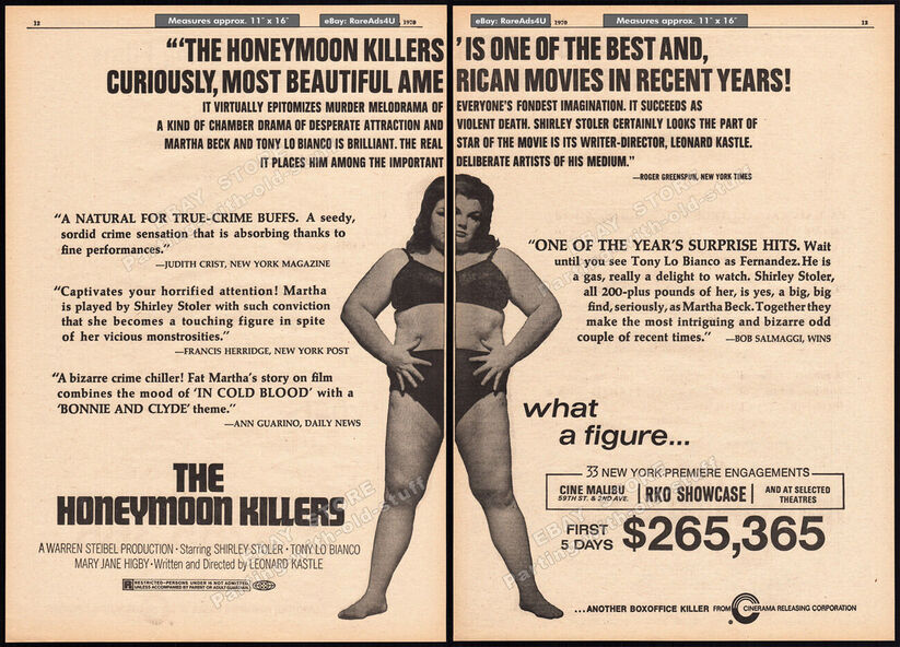 THE HONEYMOON KILLERS BOX OFFICE 1970