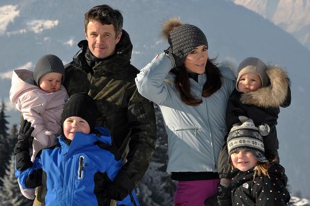 Frederik et Mary au ski