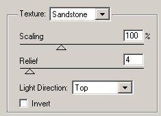 Texturizer settings