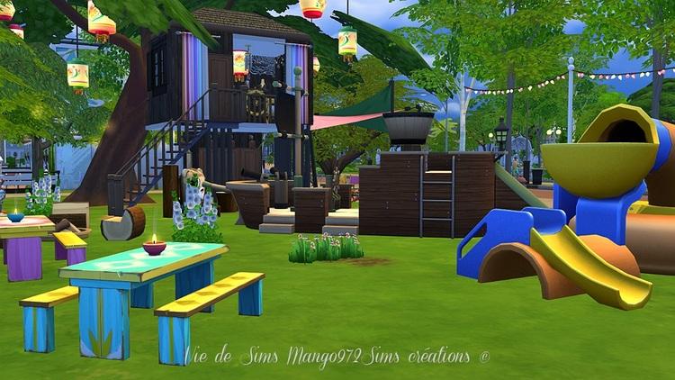 Ma cabane dans les bois, parc des joyeux pirates #sims4