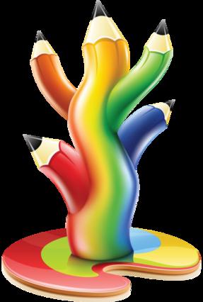 tubes école-crayon de couleurs