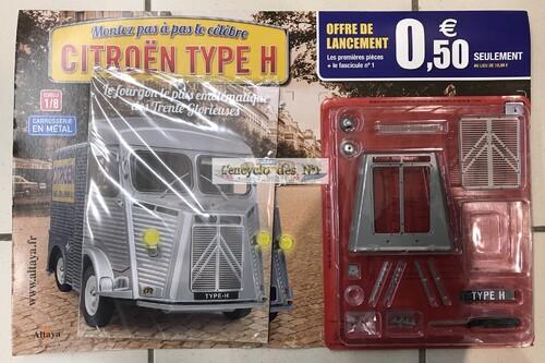 N° 1 Montez pas à pas le célèbre Citroën type H - Lancement