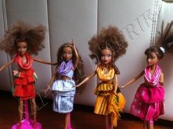 poupées et tenues traditionnelles de Côte d'Ivoire: tenues Akan