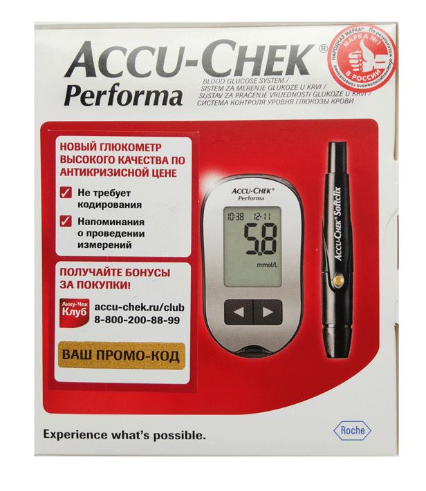Прибор для измерения сахара в крови акку чек
