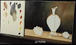 Dessin et peinture - vidéo 1645 : Nature morte aux fruits - huile sur toile.