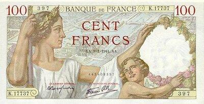 LE BILLET 100 FRANCS SULLY