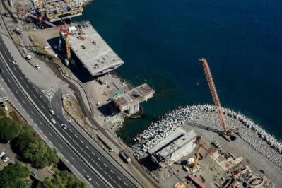 Quelques clichés aériens du chantier de la NRL