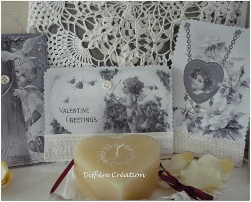 Cartes rétro pour souhaiter traditionnellement la Saint Valentin