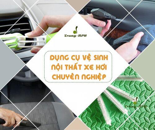 Bộ đồ nghề làm vệ sinh nội thất ô tô chuyên dụng