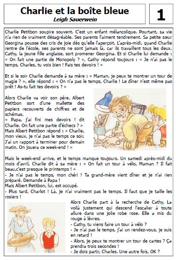 CHARLIE ET LA BOITE BLEUE