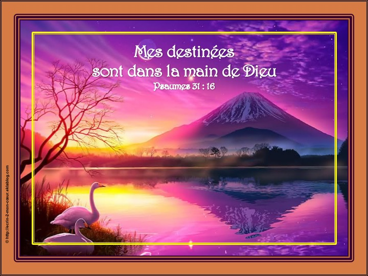 Mes destinées sont dans la main de Dieu - Psaumes 31 : 16