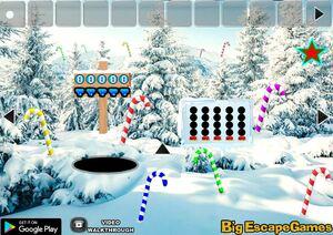 Jouer à Big Christmas candy cane forest escape