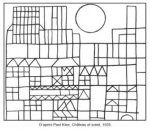 Coloriage Chateau Ps.Chateau Et Soleil Paul Klee