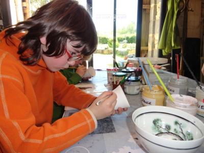 """Blog de melimelodesptitsblanpain : Méli Mélo des p'tits Blanpain!, """"Journée des Métiers d'Art"""": à la """"Poterie de la Maison Rose""""!"""