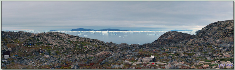 Panorama vers la côte nord de l'île de Kullorsuaq - Qaasuitsup - Groenland