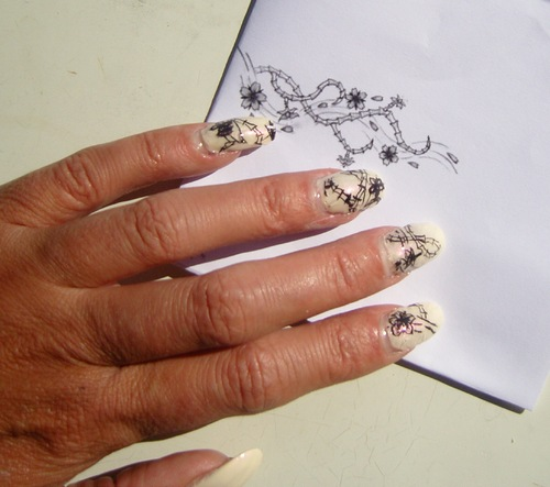 Nail art : Tatoo japonais - stickers maison