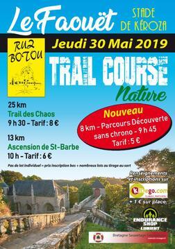 Trail des Chaos et Ascension de Ste Barbe - Le Faouet - Jeudi 30 mai 2019