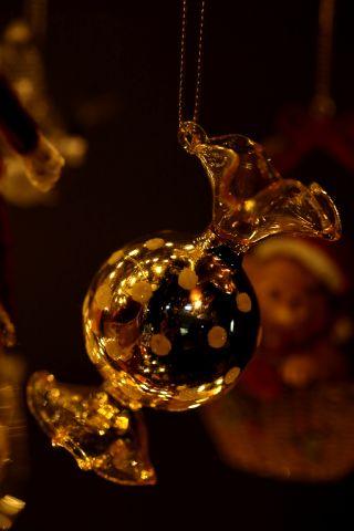 FEERIC CHRISTMAS D/écoration de Sapin de No/ël Cimier /Étoile Argent paillet/é H 38 cm