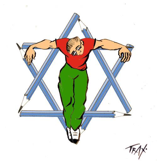 Mohammad Saba'aneh, dessinateur de presse, est emprisonné par Israël