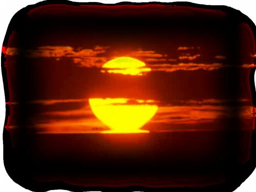tube coucher de soleil