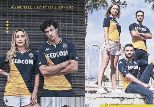 maillot exterieur de l'AS Monaco 2020/21